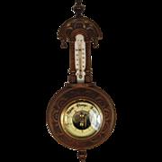 English Mahogany Pendant Barometer