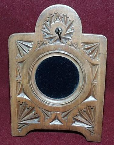"Black Forest Easel Pocket Watch Holder - Hand Carved "" Arts and Crafts"""