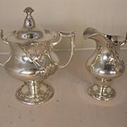 Victorian Silver Plate Cream and Sugar