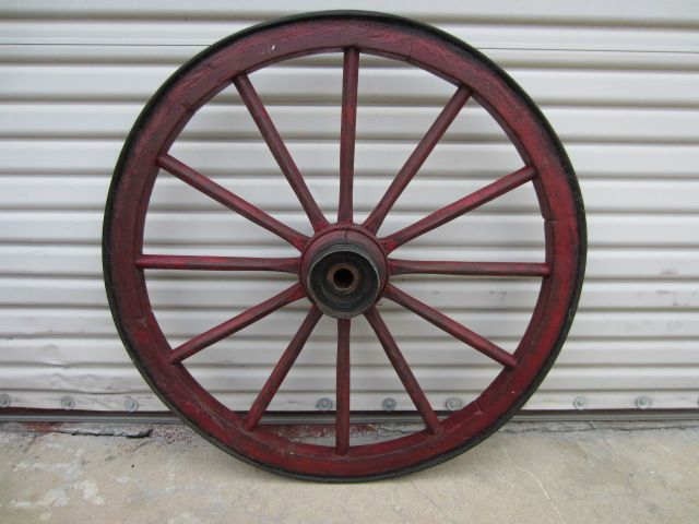 Antique Wagon Wheel Architectural  Antique Element Yard Art Wall Art