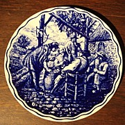 Dutch Antique Flemish Antique Boch Plate