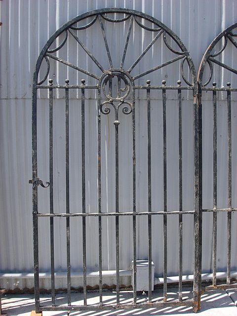 Architectural Antiques Hand Forged French Antique Iron Gate Door