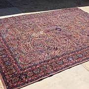 Antique Hand Made Wool Oriental Persian Carpet Rug