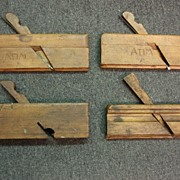 Set of 4 Antique Wood Planes Antique Wood Working Hand Tools