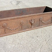 French Antique Cast Iron Planter Antique Architectural Yard Art
