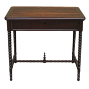 American Antique Spindle Table Work Table Antique Furniture