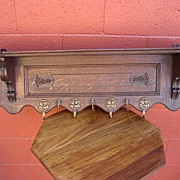 French Antique Wall Rack Antique Coat Rack Antique Hat Stand Antique Hall Tree