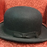 Antique American Fashion Hats Bowler Hat Antique Derby Hat