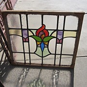 English Antique Stained Glass Window Architectural Antiques