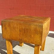 American Antique Butchers Block Chopping Block Cutting Board Antique Kitchen Counter