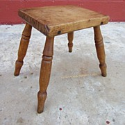 French Antique Milking Stool Antique Stool Bench Primitive Country Antique Furniture