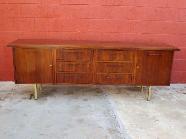 Danish Modern Cabinet Sideboard Server Vintage Mid Century Furniture