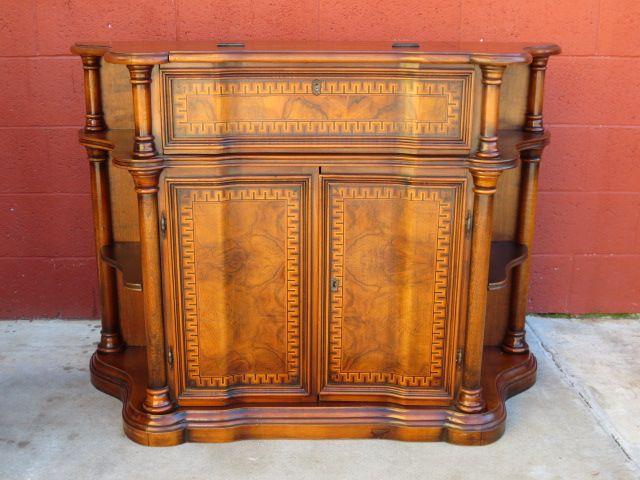 Vintage Console Secretary Desk Bar Cabinet Sofa Table
