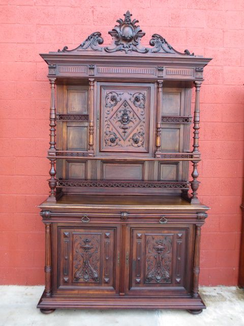 French Antique Hutch Cabinet Sideboard Server Antique Furniture