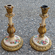 Italian Antique Candlesticks Pair of Italian Candle Holders