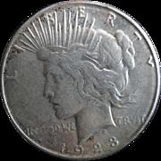 Peace Silver Dollar 1923 (D) G