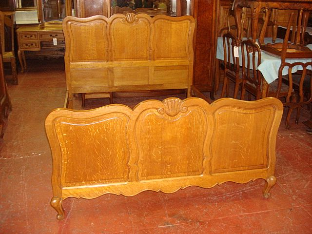 French Provincial Hand Carved Bed Country French Bed