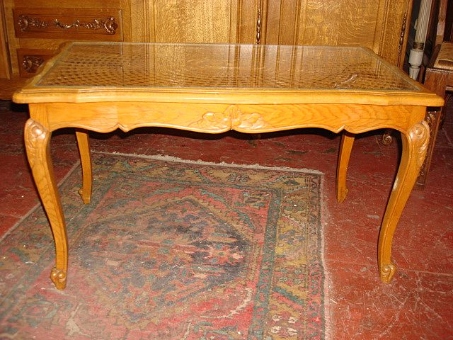 Hand Carved Country French Coffee Table
