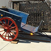 Antique Dutch Wagon Flower Cart Farm Cart Horse Drawn Carriage