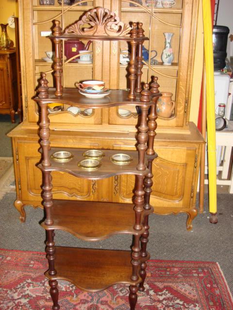 Beautiful Victorian French Etagere What Not Shelf Made of Walnut