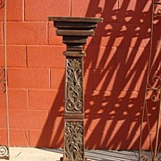 Spanish Antique Column Antique Pedestal Stand Spanish Antique Furniture