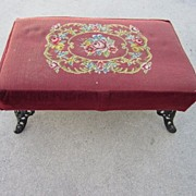 Antique Foot Rest Ottoman Antique Foot Stool Bench Needle Point