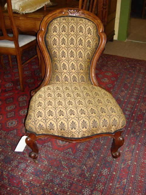 American Antique Victorian Walnut Parlor Chair Side Chair