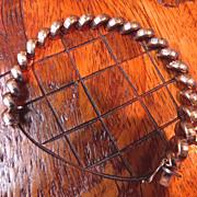 Vintage Italian Sterling Silver Half Dome Link Bracelet