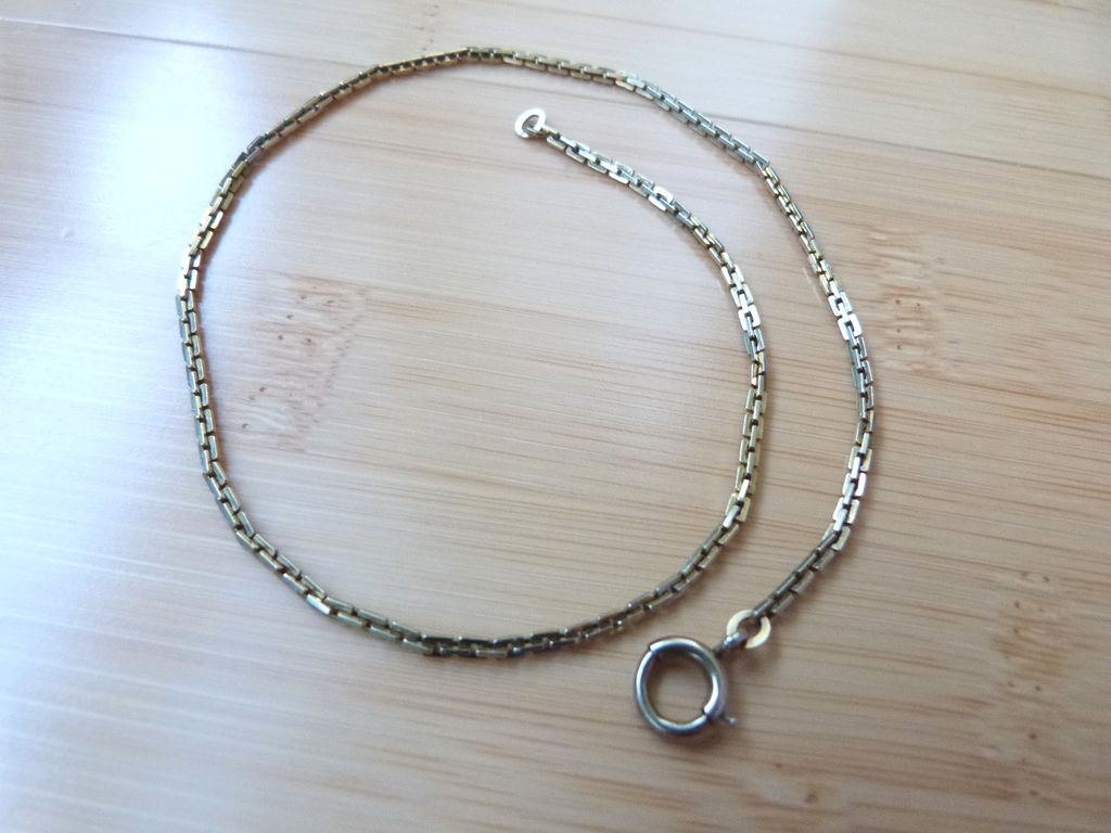 Vintage 10k Gold Bates & Bacon Watch Chain