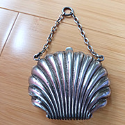 Vintage Chatelaine Sterling Silver Coin Purse and Chain