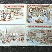 Vintage Heinz 57 Company Advertising Centennial Post Card Cards (4)