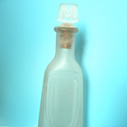 1920s Art Nouveau Frosted Satin Glass Drape Pattern Perfume Bottle