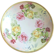 """Prussia Royal Rudolstadt 8.5"""" Porcelain Plate with Roses"""
