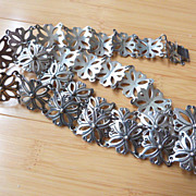 Vintage Taxco Mexico Sterling Silver Link Belt