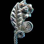 Vintage Sterling Handmade Flower Pin Exquisite!