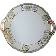Gorgeous Hand Painted Noritake Nippon Handled Cake Plate / Tray