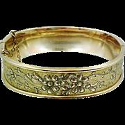 Victorian Gold Filled S.O. Bigney Co. Taille deEperne Bangle Bracelet