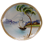 REDUCED NIPPON MOUNT FUJI c1904 handpainted gilded moriage plate