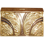 Multi Tone Gold Plated Evans Minaudiere Dance Compact