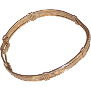"Soft Bangle Bracelet with Hook and Eye Closure – 6.75"""