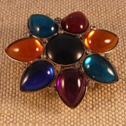 Multi Colored Star Belt Buckle by MUSI