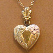 Gold Filled Necklace with Gold Filled Heart Locket by Automade – 18""