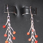 Carnelian and Sterling Earrings - Pierced