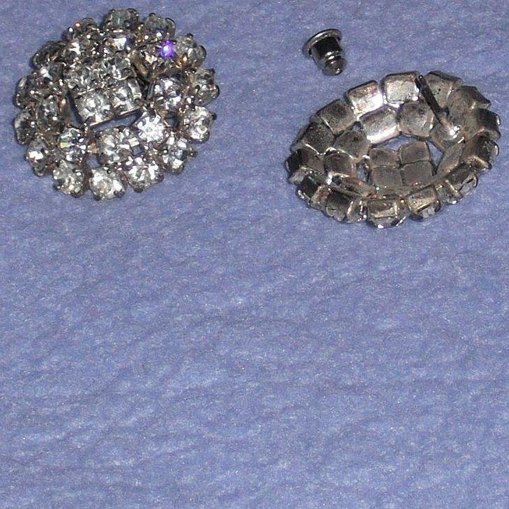 Vintage – Austrian Crystal Earrings – Made by MUSI for Pierced Ears