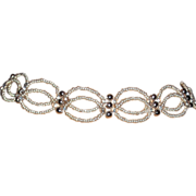 "Silver Seed Beaded Choker with Sterling Clasp - 14"" + 2.5"""