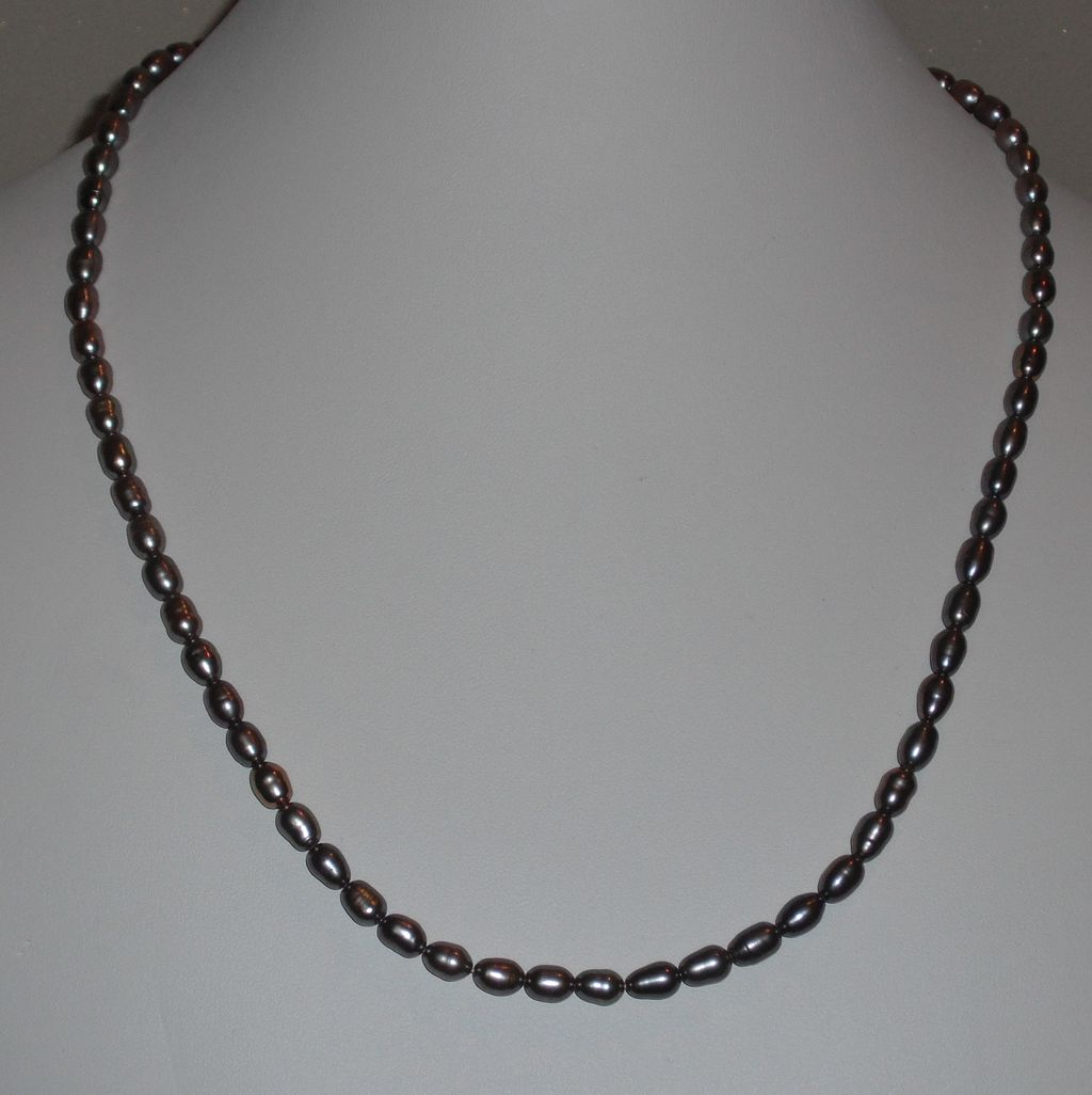 """Taupe Cultured Freshwater Pearl Necklace -  21.5"""""""
