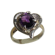 Amethyst Stone Sterling Ring size 6