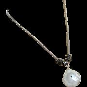 Solar Quartz Pendant-Bali Bead-Sterling Silver Necklace