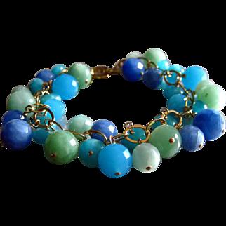 Ocean Colors Quartz-14k Gold Fill Charm Bracelet