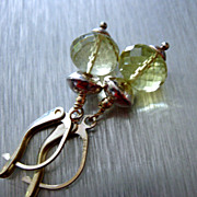 Contemporary- Lemon Quartz-Bright Sterling Silver Earrings